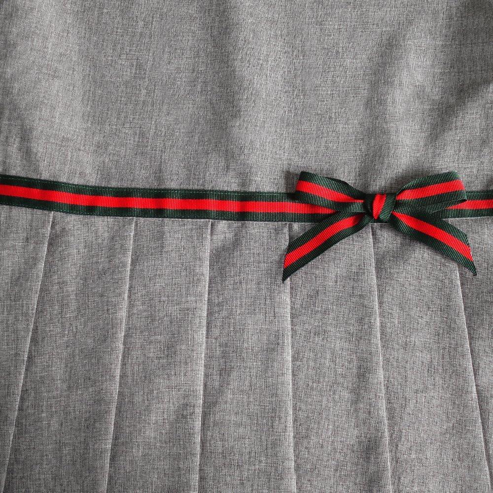 Sunny Fashion Vestido para ni/ña Caqui Uniforme Escolar Plisado Falda 4-12 a/ños