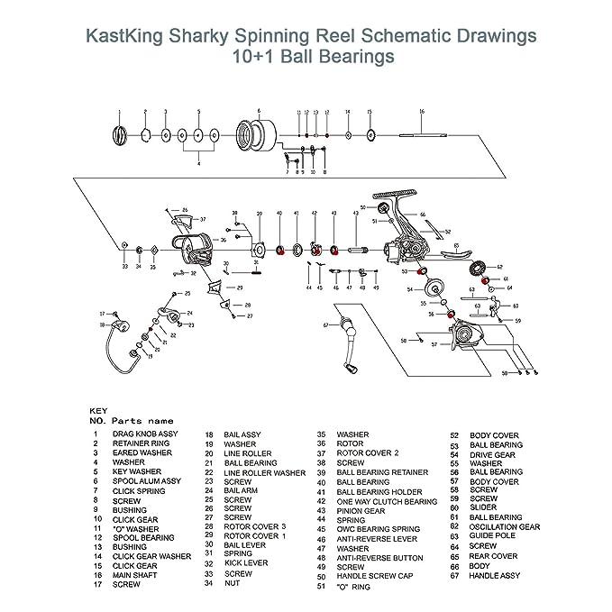 Amazon.com: KastKing Sharky – Carrete de pesca super light ... on shimano parts schematics, engine schematics, electric schematics, daiwa parts schematics, wire schematics, abu garcia schematics, ambassadeur 6500 striper drag schematics, trailer schematics,