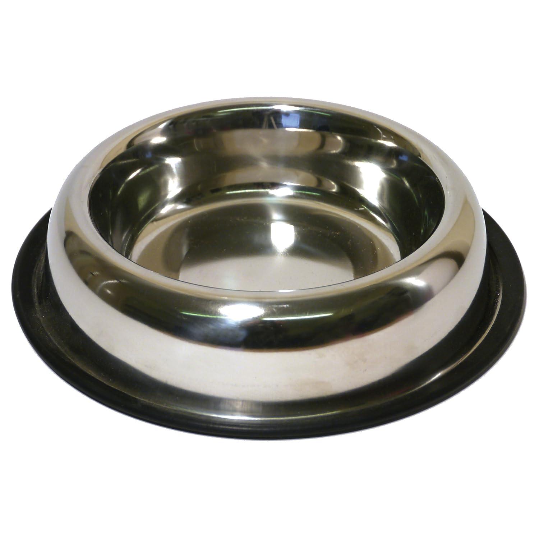 pinkwood Stainless Steel Non-Slip Spaniel Bowl, 1 Litre