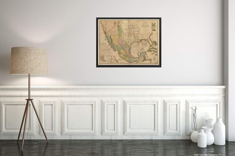 Mejico O Mexico Mapa.Amazon Com New York Map Company 1847 United States Of