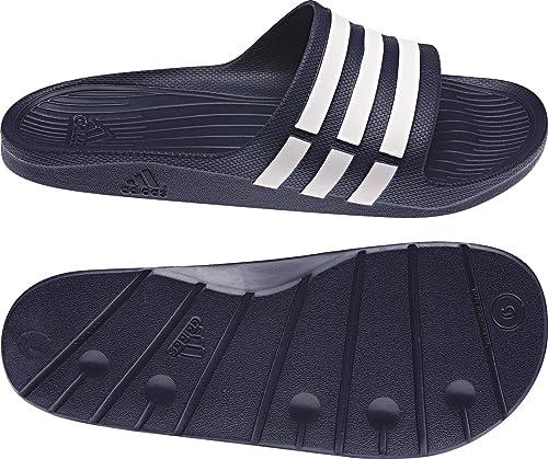 adidas Duramo Slide Unisex Adulto Ducha & Zapatillas baño - G15892 Azul Oscuro - Blanco,