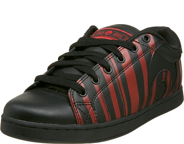 Osiris MENS Troma Skateboarding Sneakers Black Leather Athletic