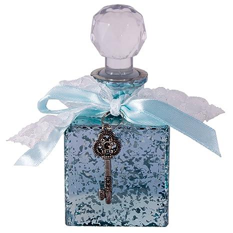 Atractivo recargables Vintage Chic cristal frasco de Perfume, color blanco