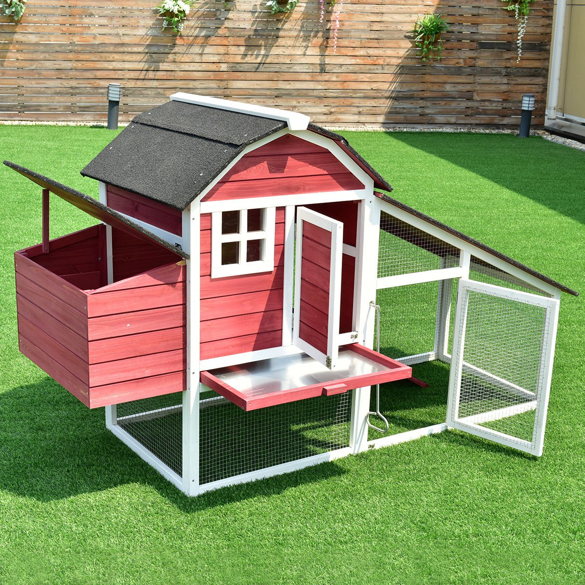 coop product with master deluxe hayneedle cfm chicken george hutches hutch boomergeorgedeluxechickencoopwithexercisepen boomer exercise pen