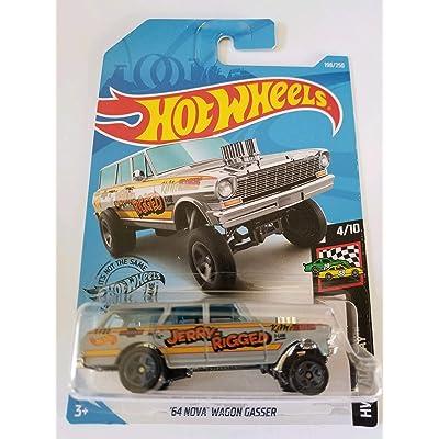 Hot Wheels 2020 Hw Race Day '64 Nova Wagon Gasser, 198/250 Gray: Toys & Games