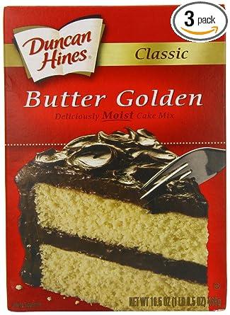 Duncan Hines Firma dorado Mantequilla Pastel Mix de recetas ...