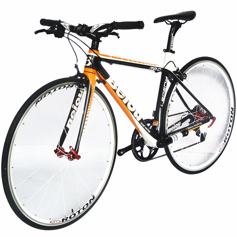 BEIOU カーボン快適な自転車700CロードバイクLTWOO2*10スピードSRAMブレーキコンプリート18.3ポンドハイブリッド自転車東レT800ファイバーCB0012B2 [並行輸入品] B017TUM8BW 520mm
