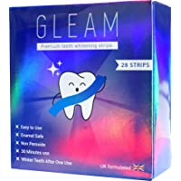 Gleam Teeth Whitening Strips, Peroxide-Free Luxe 3D Tooth Whitening Strips, Teeth Whitener Kit, Teeth Whitening Kit No Sensitivity & Fast Results (28-Strips)