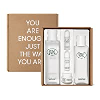 ENOUGH PROJECT Skin Care Set for Both Home& Travel, with Facial Toner, Lotion& Cream for Daily Moisturizing, Korean, Vegan, Cruelty-free, Paraben-free Korean Skincare 12.68Fl.Oz by Amorepacific