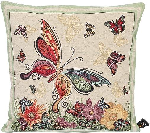 Emily Home Cuscini.Emily Home Cuscino Arredo Per Divano Butterfly In Gobelin 45 X 45