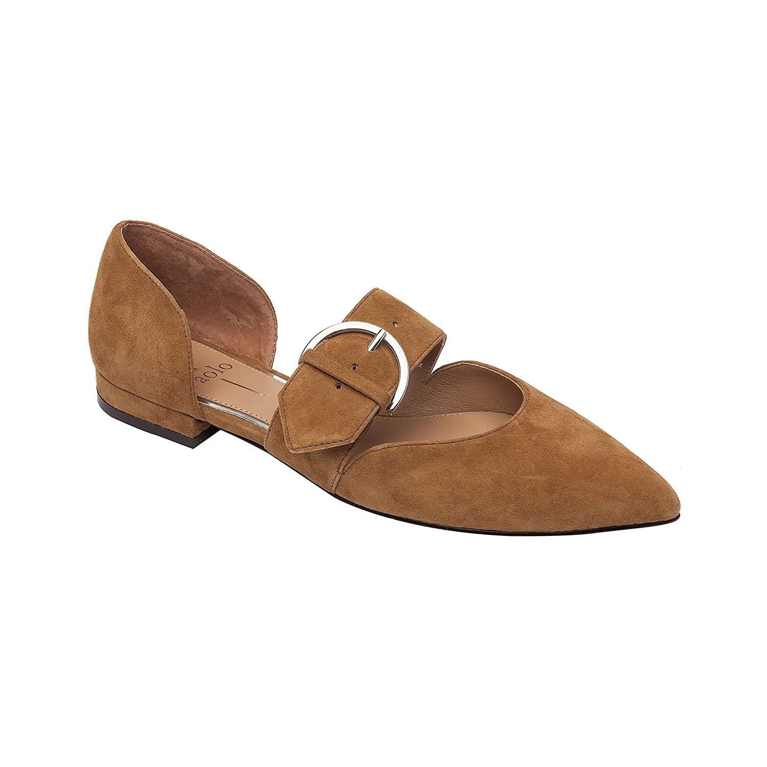 Dean | Women's Two Piece Pointy Toe Comfortable Leather or Suede Ballet Flat B07DM9V9L8 4.5 M US|Toffee Suede