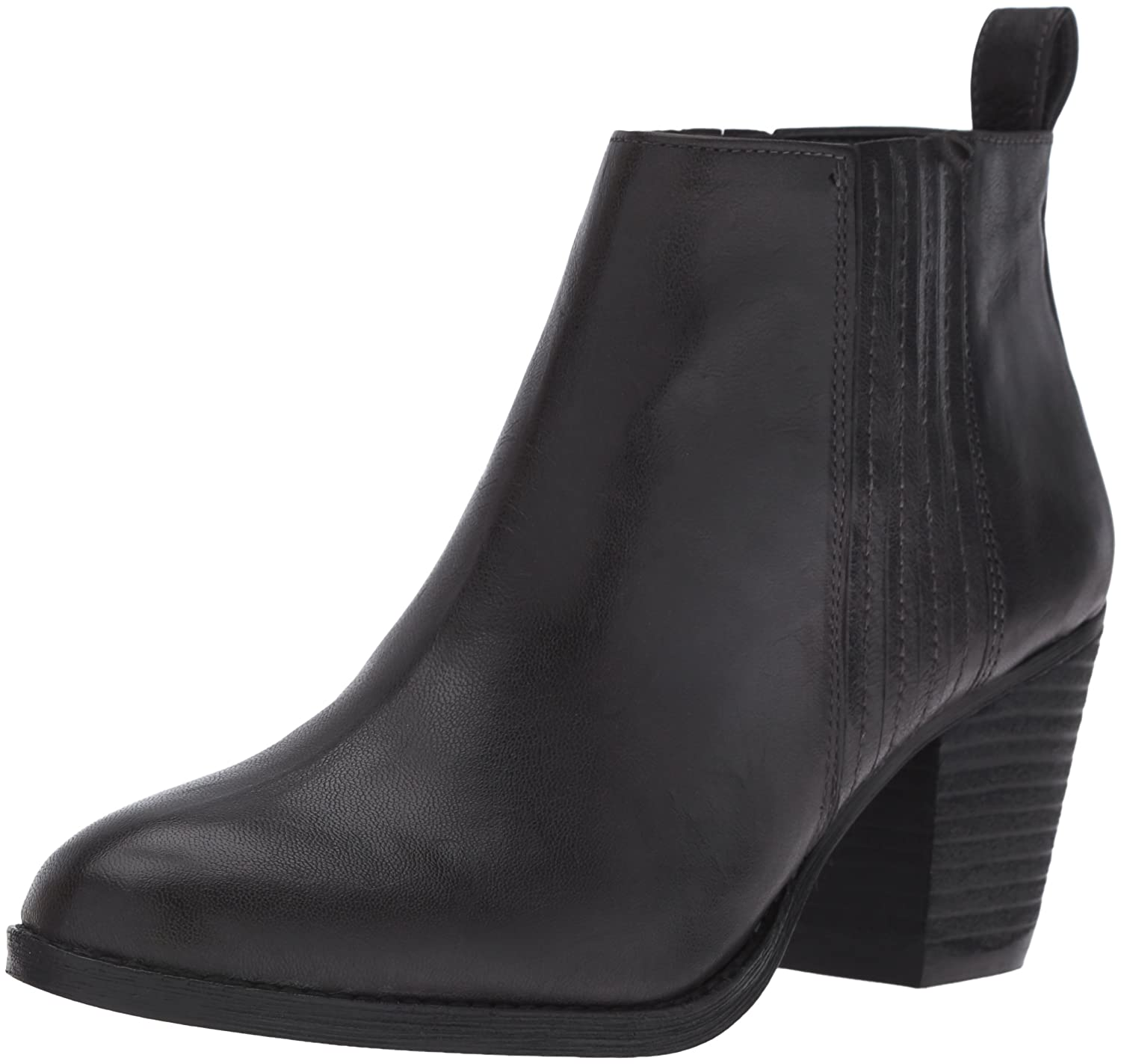 Nine West Women's Fiffi Ankle Bootie B01EWYK1Z8 8 B(M) US|Dark Grey Leather