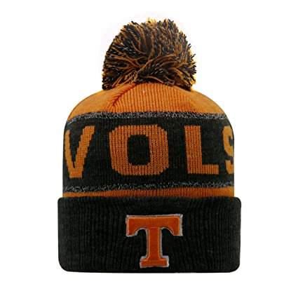best loved 5849d 7b0c9 Tennessee Volunteers NCAA Top of the World  quot Below Zero quot  Striped  Cuffed Knit Hat