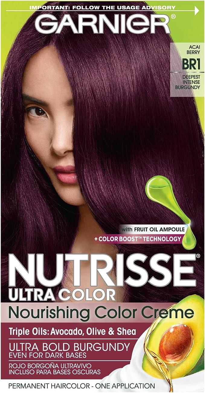 Garnier Hair Color Nutrisse Ultra color Nutritivo color crema – BR1 más intenso granate