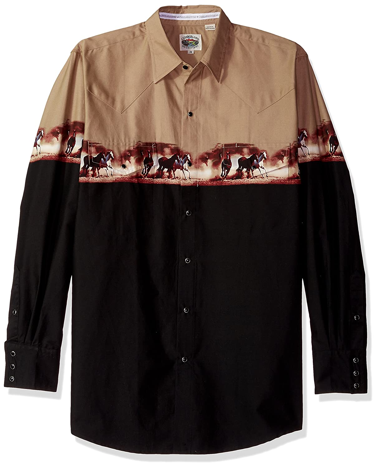 Amazon.com: Ely & Walker Mens Tall Size Long Sleeve Horse Border Print: Clothing