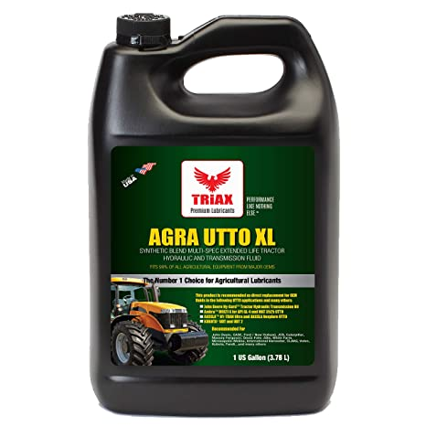 Triax Agra UTTO XL Synthetic Blend Premium Tractor Hydraulic & Transmission  Oil - Extreme Performance - Replaces Most OEM Fluids (1 Gallon (Pack of