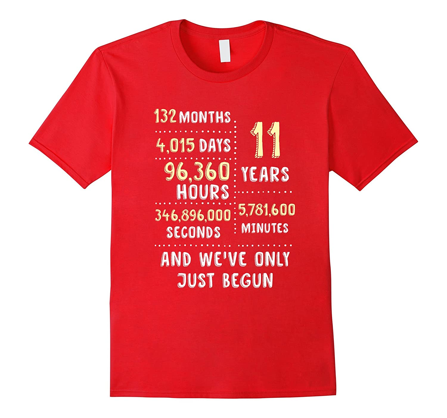 11 Years Anniversary Cute Clothing Gift for Her or Him-BN