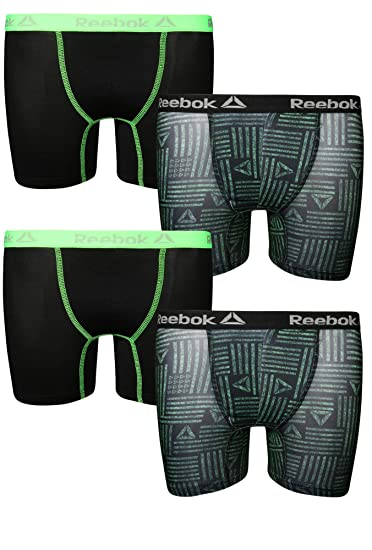 e4778e1dd8540 Reebok Boys Performance Boxer Briefs Underwear (4 Pack)