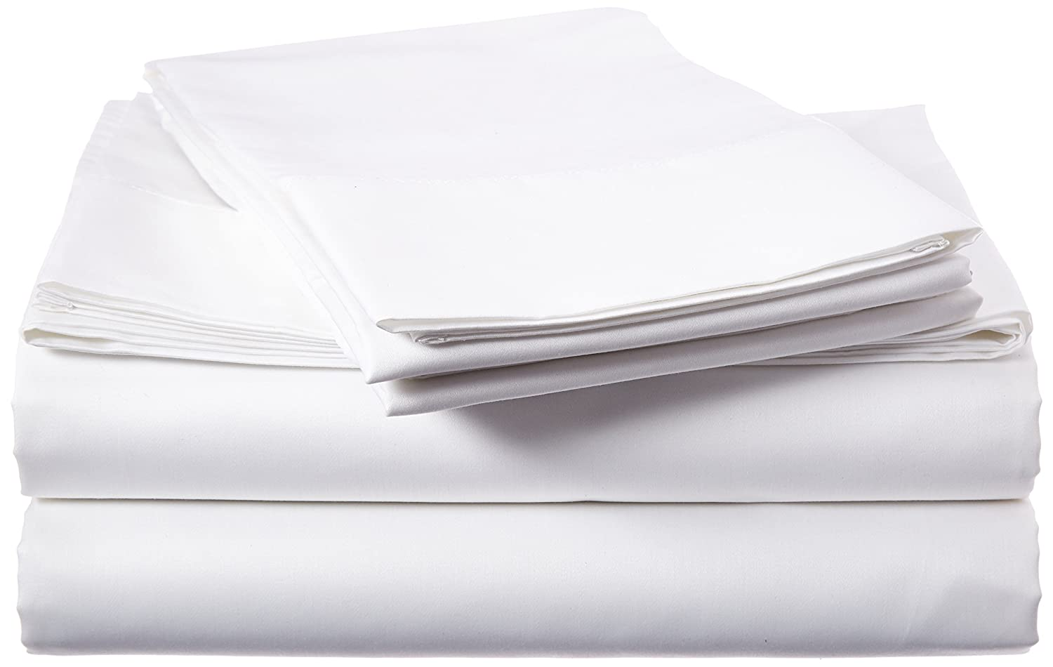 Tribeca Living 800 Thread Count Egyptian Cotton Sateen Deep Pocket Sheet Set, Queen