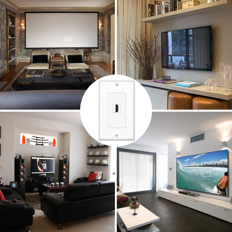 Amazon.com: TNP - Placa de pared HDMI para proyector y cine ...