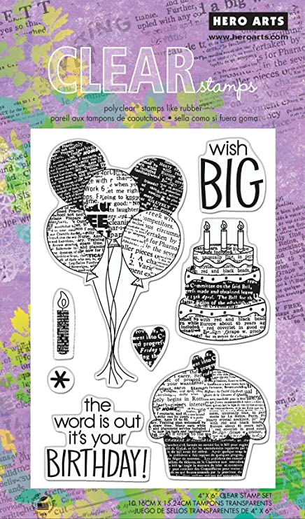 Hero Arts Wish Big Polyclear Stamp Set