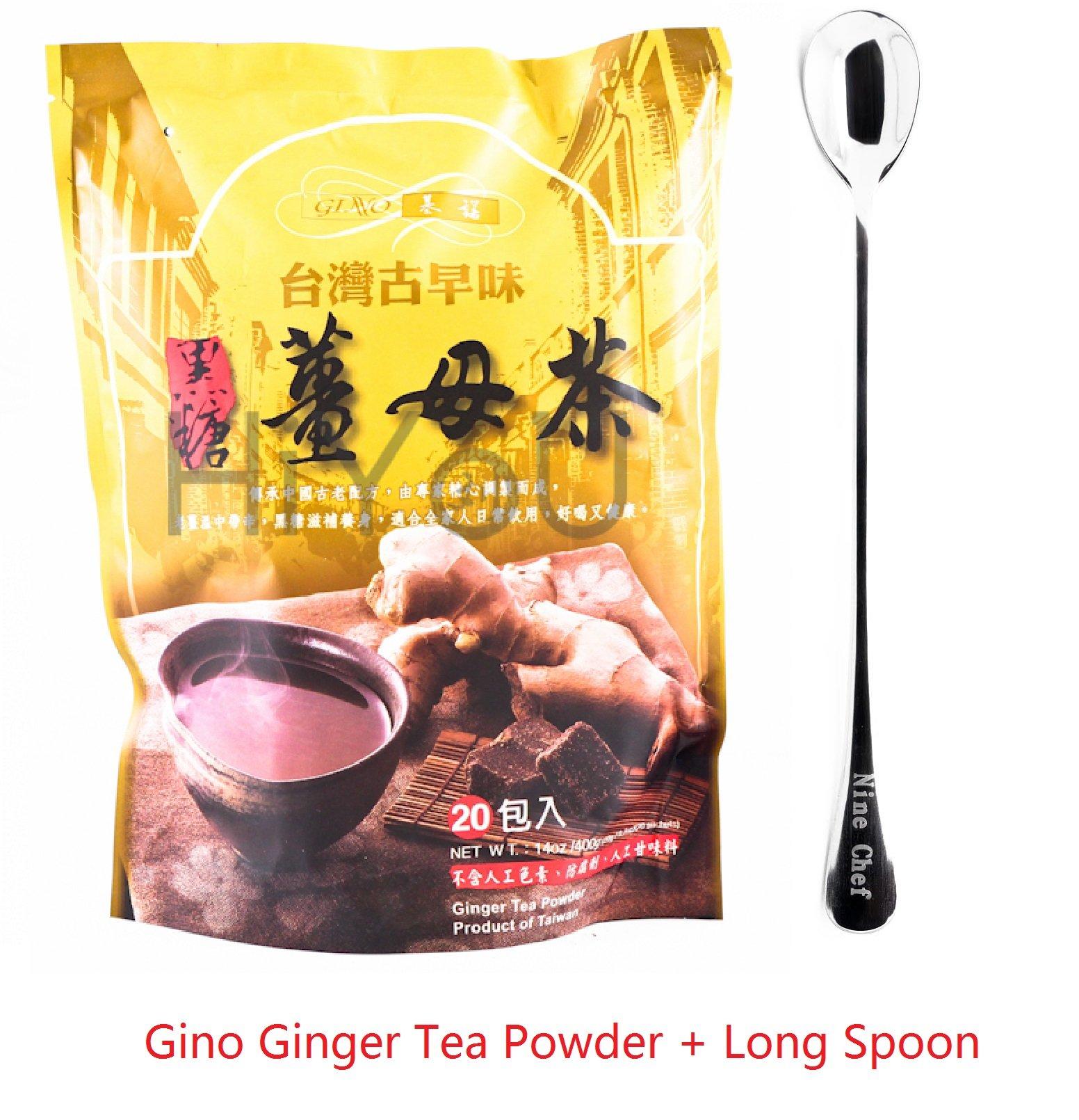 Gino Cafe Ginger Tea Powder(10 Bag) + One NineChef Coffee Spoon