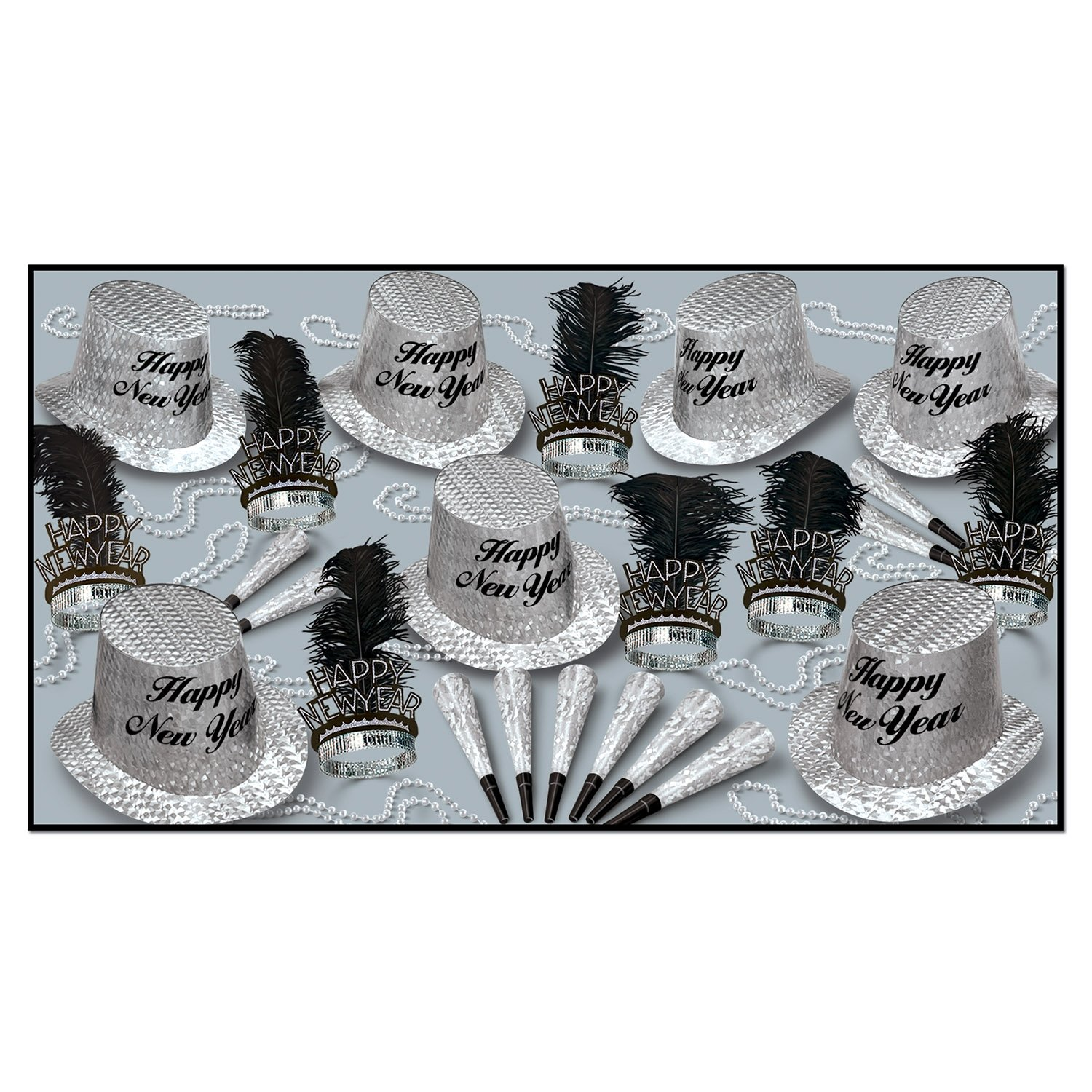 New Year Diamond Asst for 50 Party Accessory (1 count) by Beistle