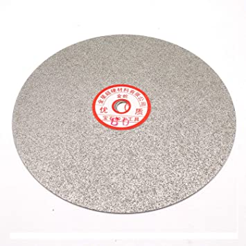 6-inch 80 Grit Outside Dia Rannb Diamond Coated Grinding Disc Flat Lap Wheel Disc Sanding Polishing Disc