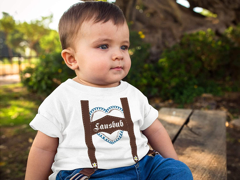 Langarm Baby Shirt Lausbub Langarmshirt Bio Baumwolle lustiger Spruch Jungen