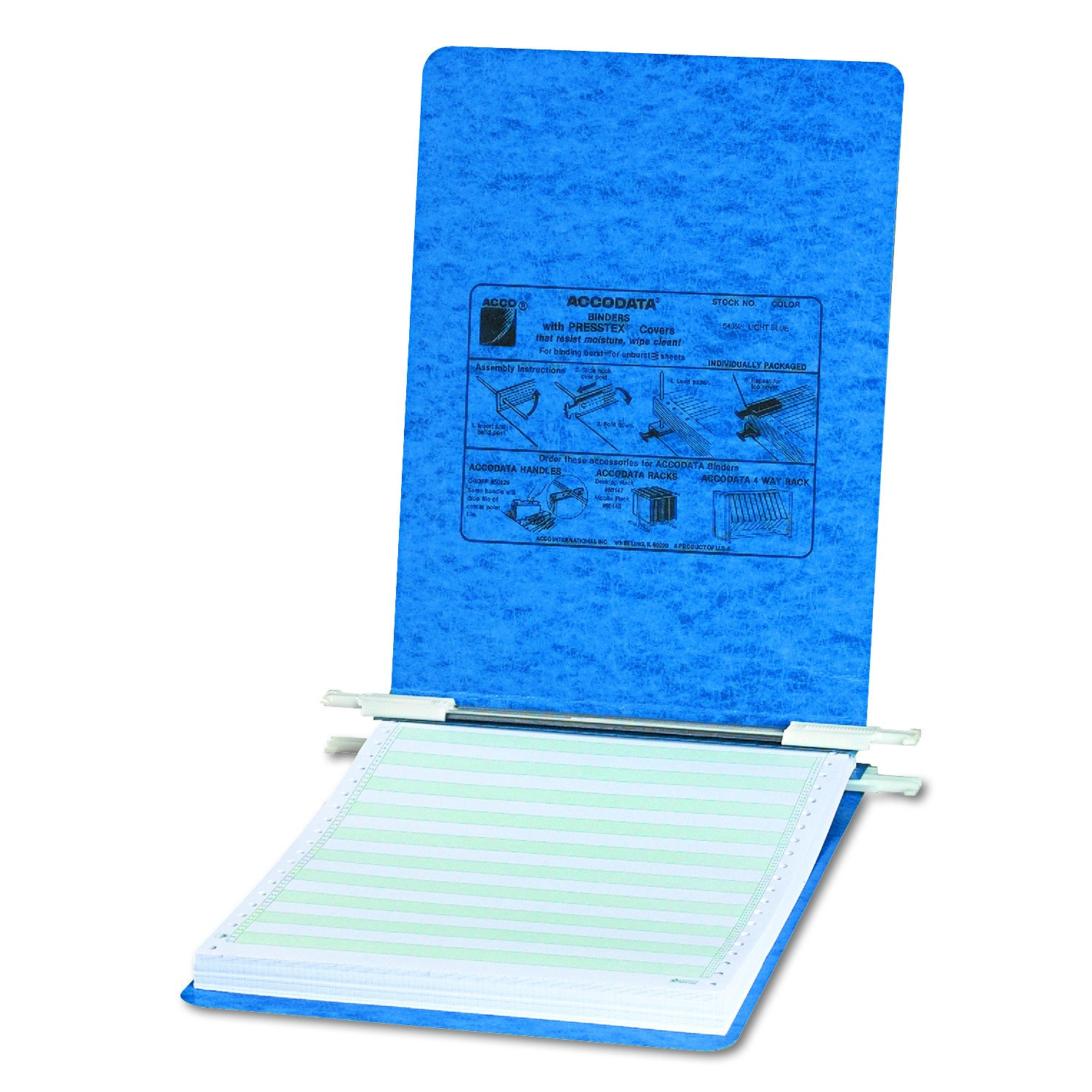 Acco Data Processing Binder, 6-Inch Cap, 8-1/2 X 11-Inch, Blue (Acc54052)