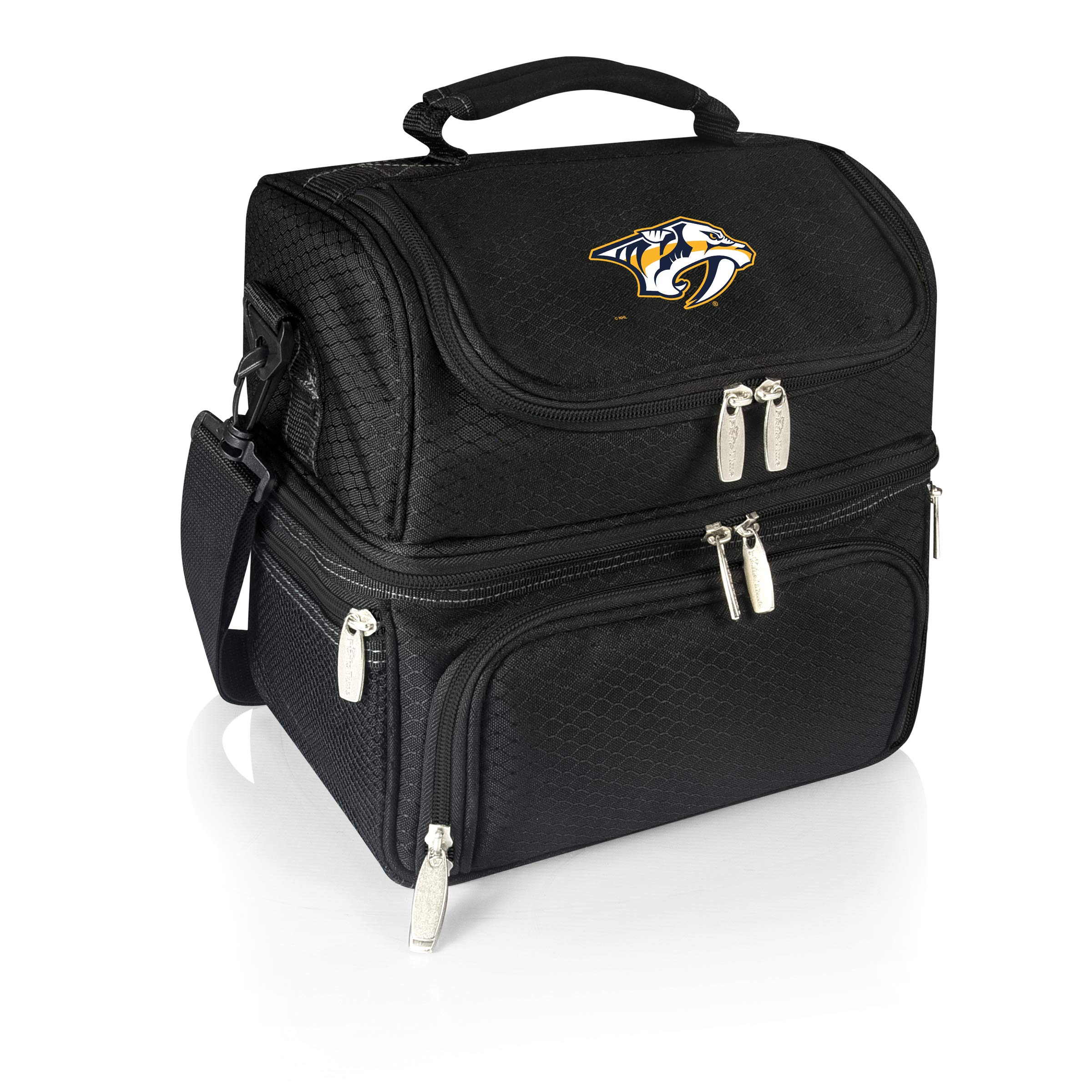 PICNIC TIME NHL Nashville Predators Pranzo Insulated Lunch Tote with Service for One, Black