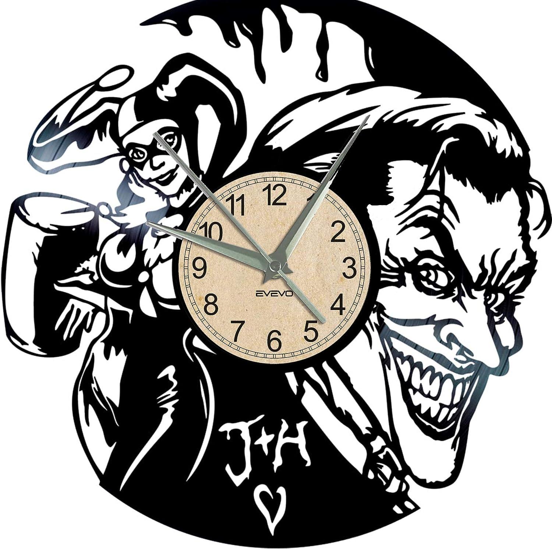 EVEVO Joker and Harley Quinn - Reloj de Pared, diseño Vintage con ...