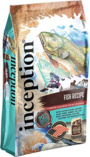 Inception Dry Dog Food Fish Recipe Complete and Balanced Dog Food Legume Free Meat First Dry Dog Food 13.5 lb. Bag