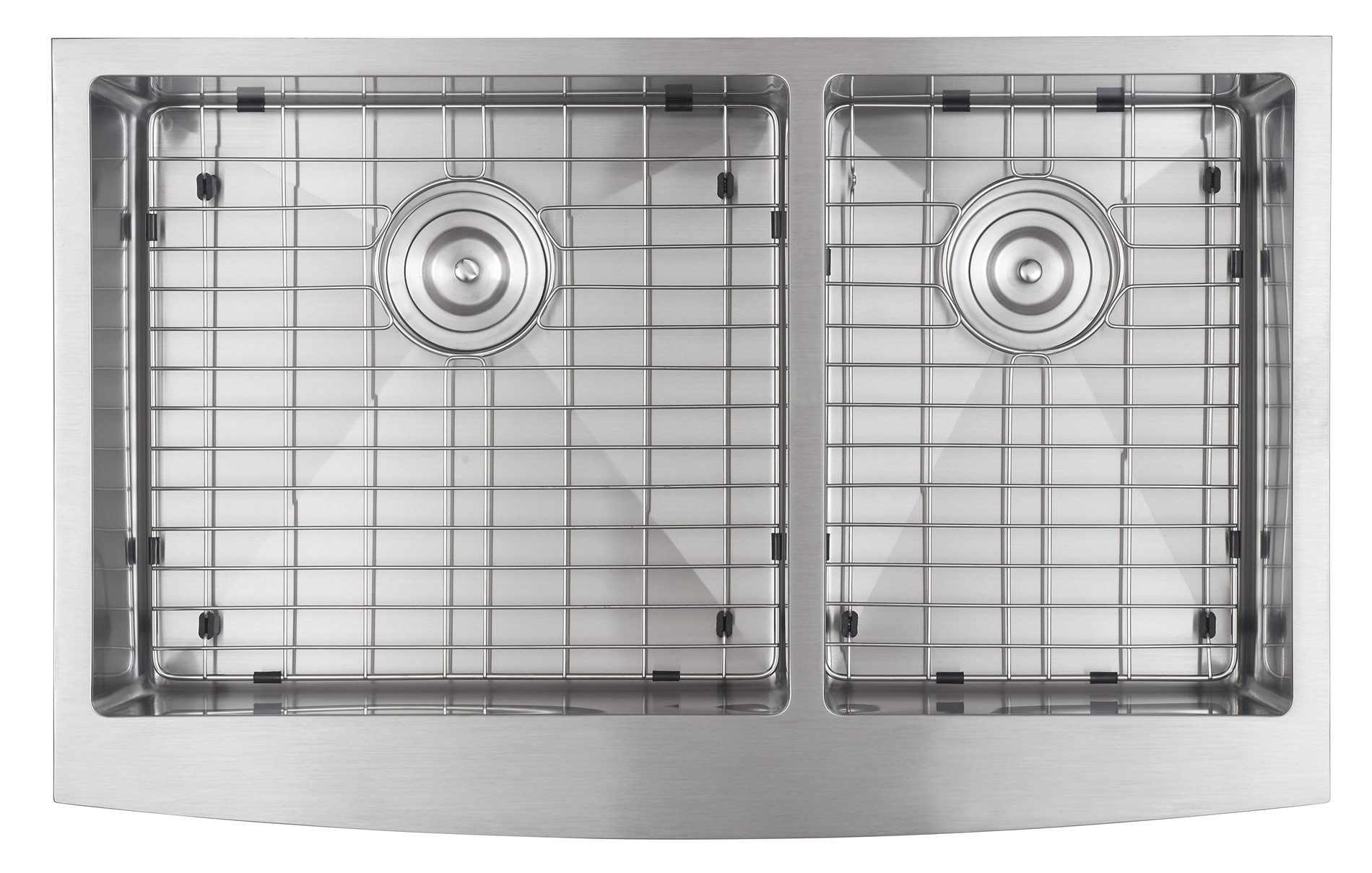 33x21 Inch Farmhouse Apron 60/40 Deep Double Bowl 16 Gauge Stainless Steel Luxury Kitchen Sink SuperSuper by SuperSuper (Image #2)