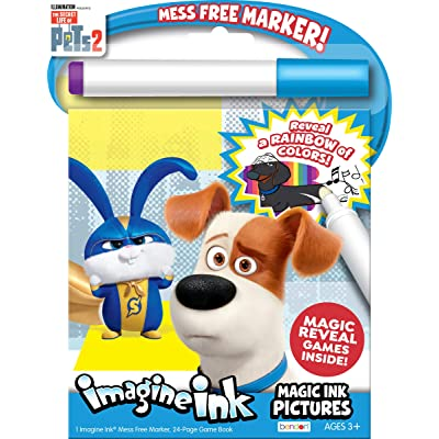 Secret Life of Pets Coloring Book Imagine Ink Magic Pictures 42238: Toys & Games