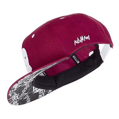 5a545d11e95ff Nebelkind Unisex Snapback Cap Sturmmasken Graffiti Kappe Weinrot One Size