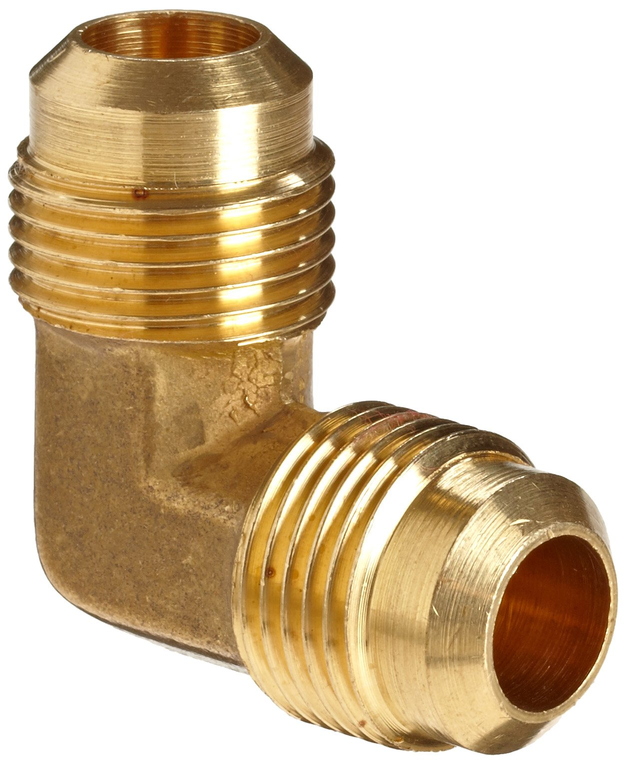 Anderson Metals Brass Tube Fitting, 90 Degree Elbow, 1/2'' x 1/2'' Flare