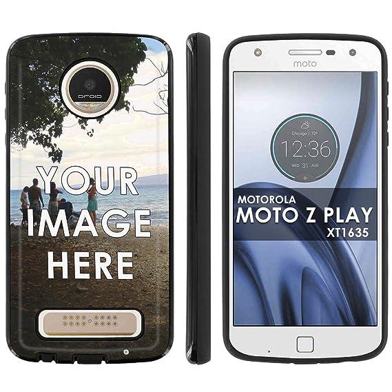 low priced 0db6f c7070 Motorola Verizon MOTO [Z Play] Droid XT1635 Slim Anti-Shock Designer Phone  Case Amazon Custom Tool YOUR MEMORY PHOTO HERE