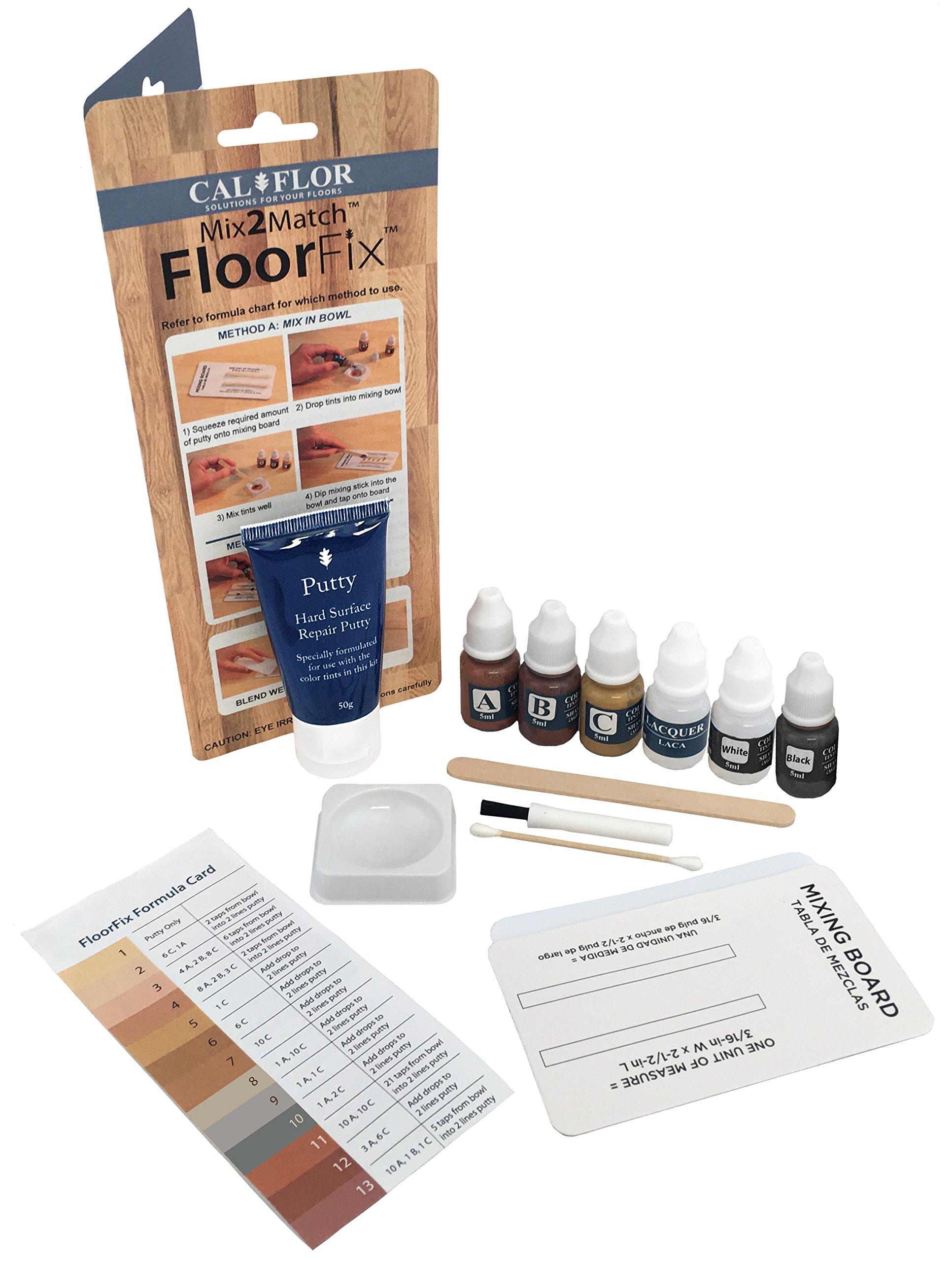 Cal-Flor FL49111CF Mix2Match FloorFix Wood and Laminate Repair Kit, Gray/Wood Tones