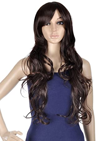 Amazon.com  Women Lady Daily Wear Costume Cosplay Party Hair Wigs with Free  Wig Cap  Beauty 1bf56be54614