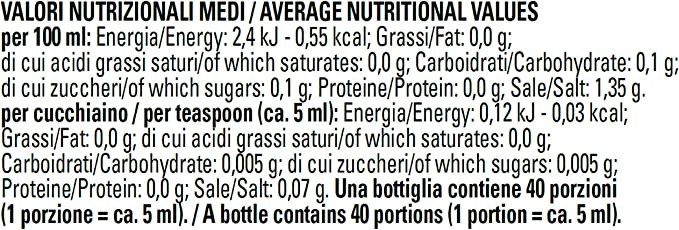 Dolcificante liquido 200ml senza glutine (pacco da 15)