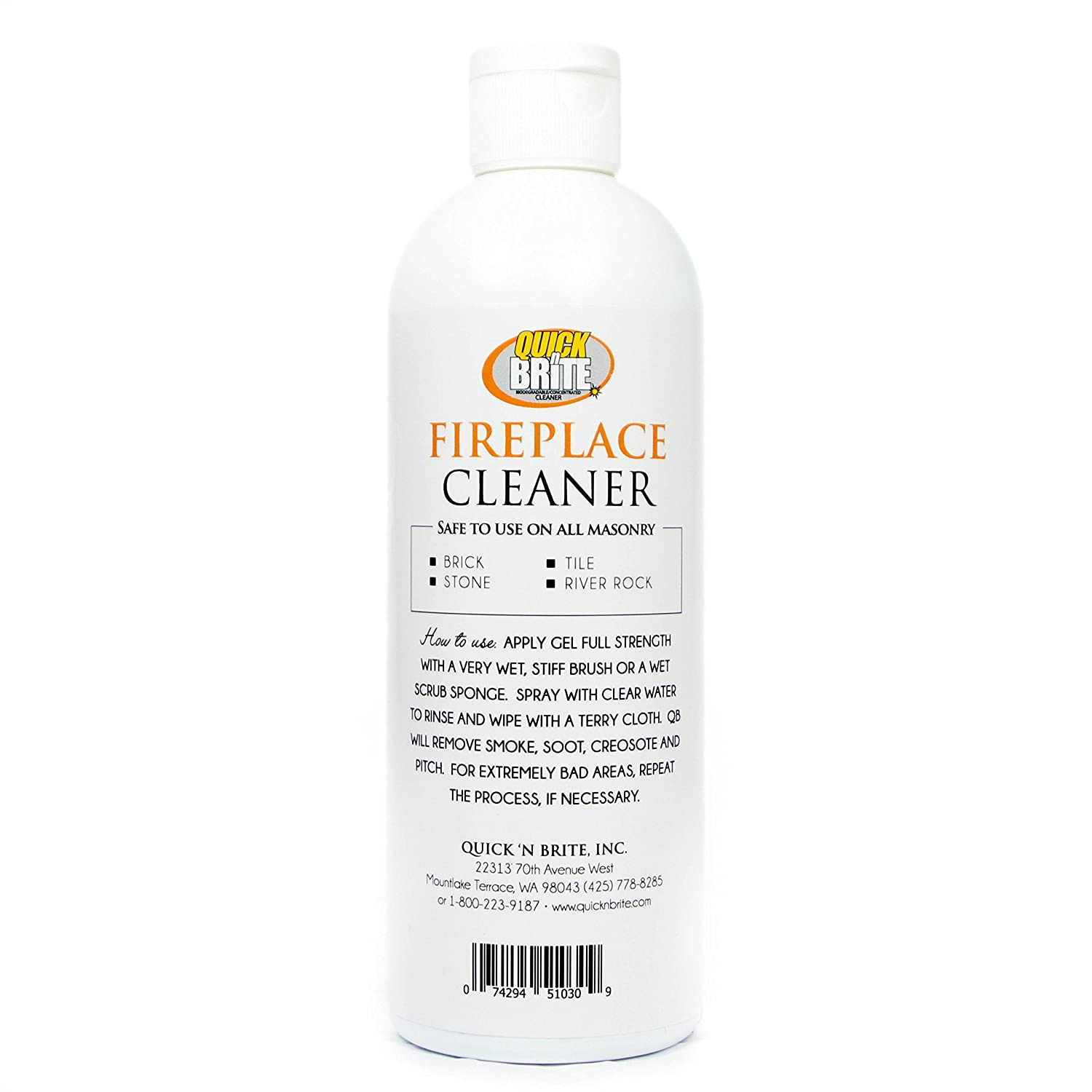 amazon com fireplace cleaner by quick u0027n brite 16 oz includes