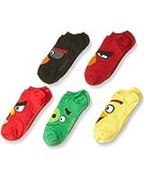 Angry Birds Boys' 5 Pack No Show Socks