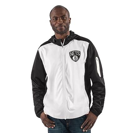 3616fe1e9645ba G-III Sports NBA Brooklyn Nets Men s Composition Full Zip Hooded Jacket
