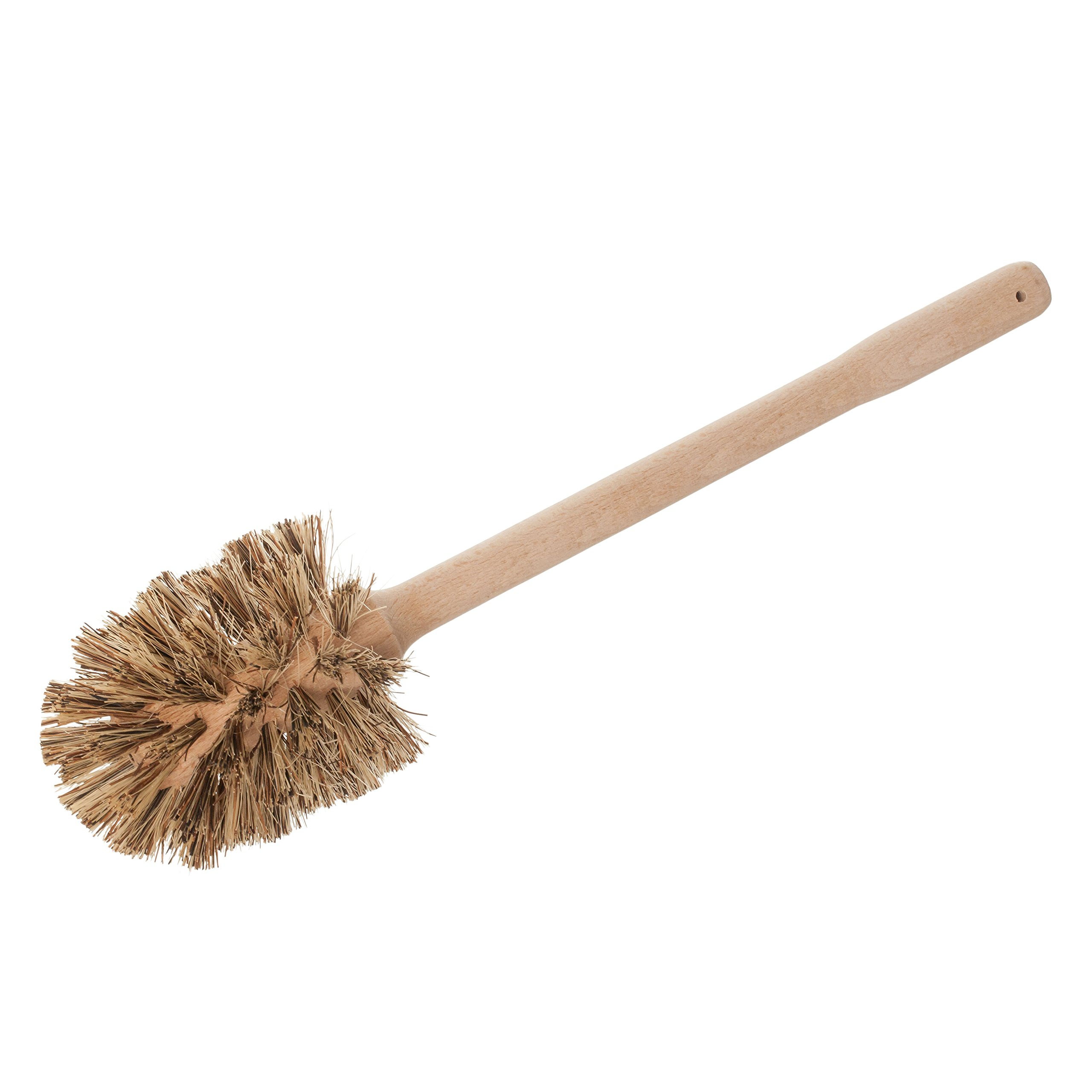 REDECKER Union Fiber Toilet Brush with Untreated Beechwood Handle, 15-3/8-Inches