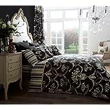 Goldstar® Richmond Black King Size Duvet Cover Bedding Set
