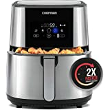 CHEFMAN Large Air Fryer Max XL 8 Qt, Healthy Cooking, User Friendly, Nonstick Stainless Steel, Digital Touch Screen with 4 Co