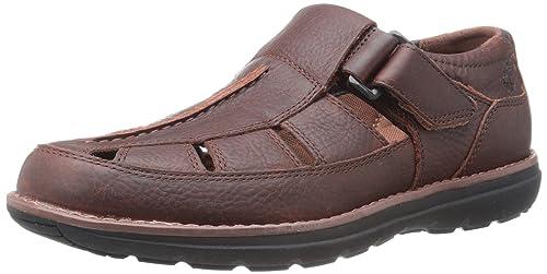 Timberland Men's Barrett Park A16ST Barrett Fisherman Leather Sandals