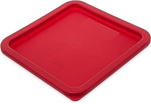 Carlisle 1074105 Storplus Square Container Lid, 6-8 Quart, Red