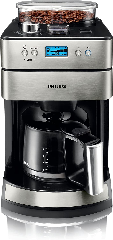 Philips HD7751/00 - Cafetera de goteo (acero, sistema de molinillo ...